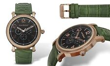NEW Louis Richard 14031 Mens Pembridge Collection Multifunction Green Dial Watch