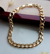 EXTRA LARGE STAMPED SOLID 9ct gold curb bracelet gf STUNNING,ALMOST SOLD OUT
