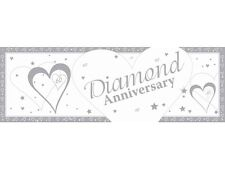 Anniversary Diamond Giant Banr - 60th Wedding Party Banner 50 X 152cm Banners