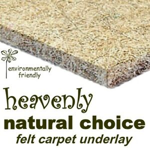 NATURAL CHOICE 11mm thick FELT carpet underlay -buy just what you need