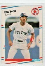1988 Fleer #348 Ellis Burks Boston Red Sox Rookie Baseball Card