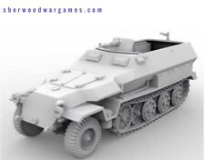 28mm German Sdkfz 251 Ausf C Half Track In Resin By Blitzkrieg WWII Bolt Action,