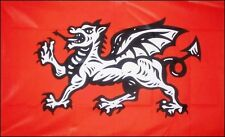 ENGLISH WHITE DRAGON FLAG ENGLAND historical 5X3 FLAGS