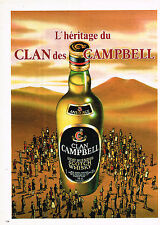 PUBLICITE ADVERTISING 044  1983  CLAN CAMBELL   whisky
