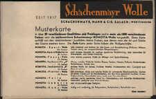 SALACH, Musterkarte um 1930 für Schachenmayr NOMOTTA- und PHÖNIX-Wolle