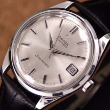Authentic Omega Seamaster Date Silver Dial Automatic Cal.562 Mens Wrist Watch