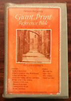 Vintage Giant Print Reference Bible KJV Nelson Blue Leatherflex Padded Cover