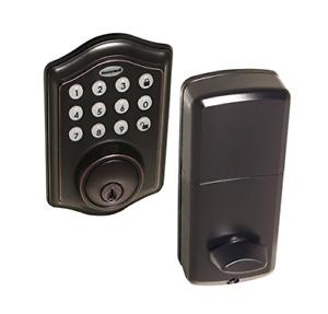 Honeywell Safes & Door Locks - 8712409 Electronic Entry Deadbolt with Keypad,