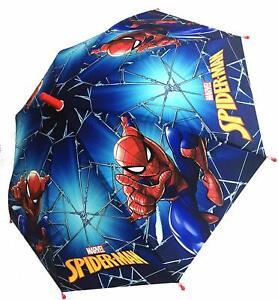Chanos Marvel Spiderman Automatic Embossed Childrens Brolly Umbrella