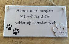 Personalised Labrador Gift Sign Dog Lover Gift Handmade Plaque