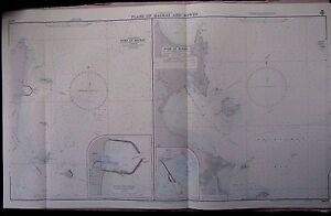 "1969 AUSTRALIA Queensland PORT of MACKAY & BOWEN Sea Chart MAP 28"" x 46½"" B65"