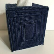 NEW Tissue Box Cover Handmade Needlepoint - Made in USA !