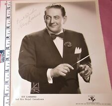 GUY LOMBARDO Autographed 10x8 Picture from the 1950s