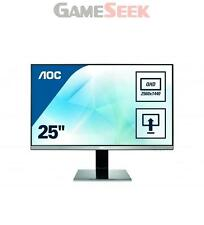 "AOC Q2577PWQ Quad HD 25"" IPS LED Monitor MHL 2560 X 1440 A1"