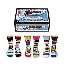 United Oddsocks Set Of 6 Striped Odd Socks For Men Swanky UK 6 - 11 Gift Box