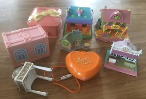 Polly Pocket ☀️ Star Bright Dinner Party 1994 PET Shop 1993  Dream Builders - D8