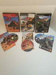 Lot of ATV Offroad Fury, 2 & 4 (Sony Playstation 2) All CIB, Cleaned & Tested