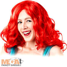 Ariel Wig Womens Fancy Dress Disney Mermaid Fairytale Princess Adult Costume Wig