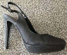 Siguiente Negro Charol Zapatos de plataforma con un ligero brillo Talla 7/41