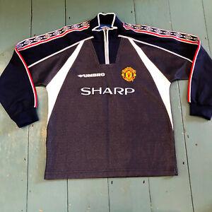 Manchester United Goalkeeper Shirt 1998 1999- Grey -Umbro -Size 12/13 Years