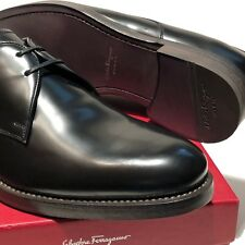 Ferragamo GIDEON Formal Men's 7.5 40.5 Black Dress Oxford Shoes Tuxedo Wedding