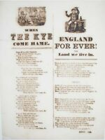 1850s ENGLISH BROADSIDE BALLADS FARMING & PATRIOTISM 1 SHEET SONGS WITH WOODCUTS
