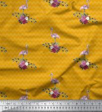 Soimoi Fabric Flamingo & Chevron Geometric Decor Fabric Printed Meter - GMD-673H