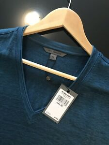 John Varvatos Collection Luxury Mens T - 100% Linen - V Neck - XL - NWT $178