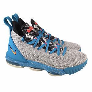Nike Lebron XVI 16 GS Basketball South Beach Blue Gray AQ2465-076 Youth Sz 4.5Y