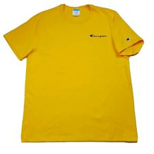 NWOT Champion T Shirt Mens XL Yellow Embroidered Script Spell Out Short Sleeve