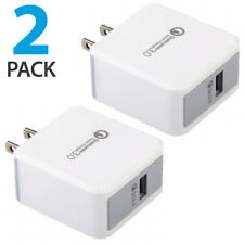 2x USB Wall Charger Fast Charge 3.0 For iPhone 8 X XS Samsung Galaxy S10+ S9+ LG