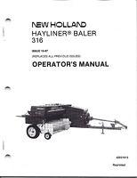 New Holland 316 Square Baler Operator Manual 42031613*