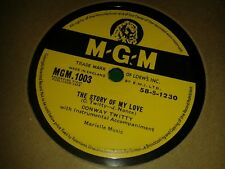 CONWAY TWITTY : THE STORY OF MY LOVE / MAKE ME KNOW YOU'RE MINE. UK.78rpm (1958)
