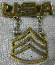 Vintage WW2 USA Military Rank Sterling Pin