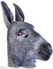 Hombre Mujer Gris Burro Gomilla Máscara Animal Disfraz Halloween Disfraz