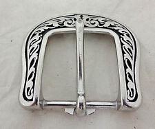 Jeremiah Watt Moroccan Polka Dot Buckles Pair Stainless Steel Belt Horse Tack