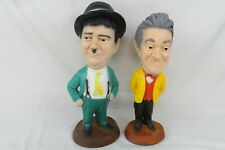 VINTAGE LAUREL AND HARDY ESCO CHALKWARE STATUES BEAUTIFUL CONDITION COLLECTABLE