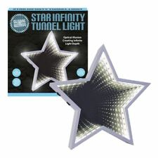 Sensory Infinity Mirror Tunnel Light Relaxing Star Wall Desk Mood Lamp 60 LED