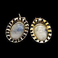 "Rainbow Moonstone 925 Sterling Silver Earrings 3/4"" Ana Co Jewelry E400536F"