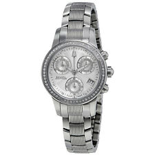 Bulova Accutron Masella Chronograph Silver Dial Ladies Watch 63R136