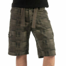 Soul Star Men/'s Twill 311 Cargo Checked Shorts Brown S M