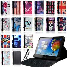 """Leather Stand Cover Case + Bluetooth Keyboard For Acer Iconia One/Tab 10"""" Tablet"""