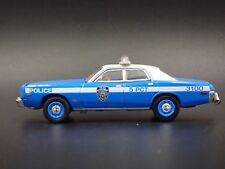 1977 PLYMOUTH FURY NEW YORK POLICE NYPD RARE 1:64 COLLECTIBLE DIECAST MODEL CAR