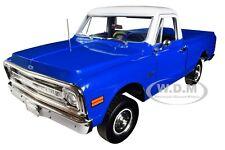 1970 CHEVROLET C-10 PICKUP TRUCK W/LIFT KIT DARK BLUE 1/18 CAR HIGHWAY 61 18011