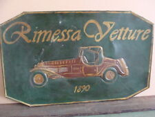 INSEGNA RIMESSA VETTURE PER AUTO FIAT LANCIA ALFA ROMEO BIANCHI OLD SIGN