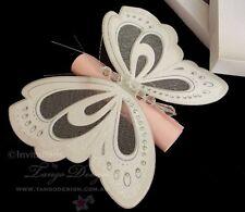 Butterfly Scroll invitations x10 Girl christening DIY printable 1st birthday