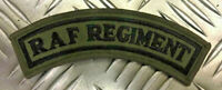 Genuine British RAF 'ROYAL AIR FORCE' REGIMENT Shoulder Patch OD/Green Brand NEW