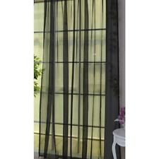 Black Floral Tulle Voile Door Window Curtain Drape Panel Sheer Scarf Divider GA