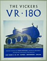 Vickers VR180 Crawler Tractor Brochure / Leaflet 1953