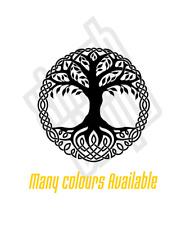 Tree of Life vinyl sticker decal car viking Yggdrasil celtic cut window optional
